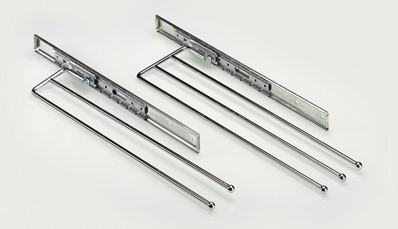 HANDDOEKHOUDER 2S HETTICH CE staal chroom*uittrekbaar*RS/LS