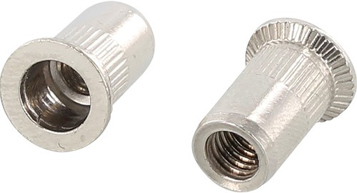 BLINDKLINKMOER GETAND BIERMANS CE klembereik 1,5-4,5mm*boren ø 9mm