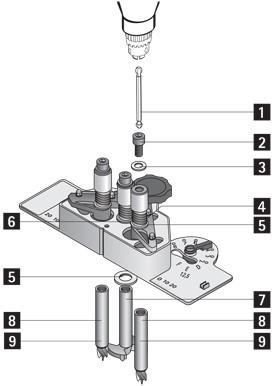 INDRAAIHULPSTUK HETTICH CE voor gebruik in boormachines