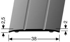 Afdekstrip Zelfklevend Kuberit Ce Aluminium Goudkleurig Mat Geanodiseerd Furniture Fittings
