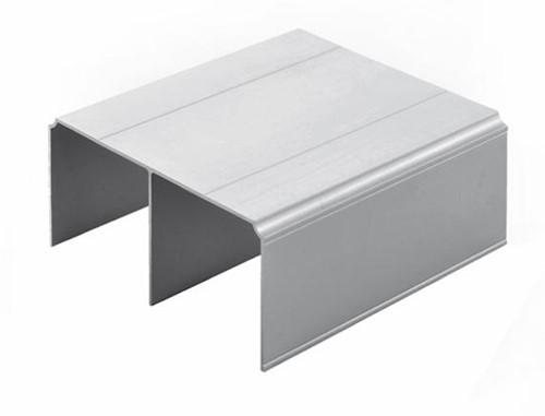 BOVENPROFIEL DUBBEL SEVROLL CE zilver geanodiseerd*L=6000mm