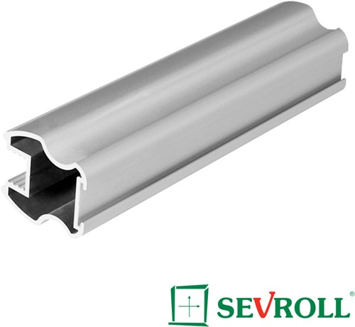 GREEPPROFIEL VERT SEVROLL CE zilver geanodiseerd*L=2700mm
