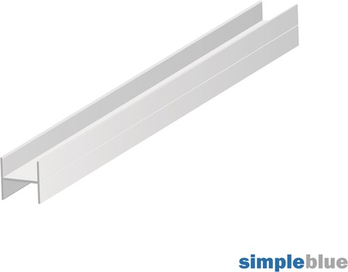 H-PROFIEL BOARD 18 SEVROLL CE aluminium*horizontaal*L=3000mm