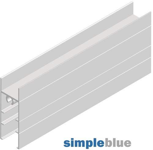 ONDERPROFIEL FRAME II SEVROLL aluminium*horizontaal*L=3000mm