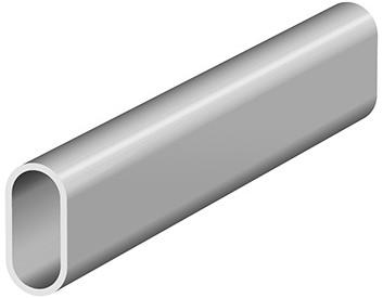 GARDEROBERAIL LINEA SEVROLL CE aluminium*ovaal*L=3000mm
